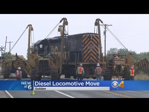 Historic Locomotive Moved From Coors Brewery To Permanent Home