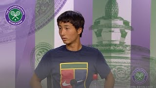 Shintaro Mochizuki Winner's Press Conference Wimbledon 2019