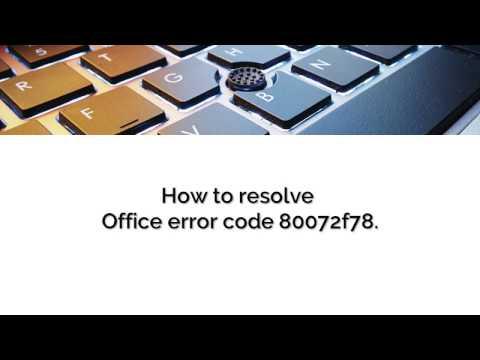 Office error code 80072f78