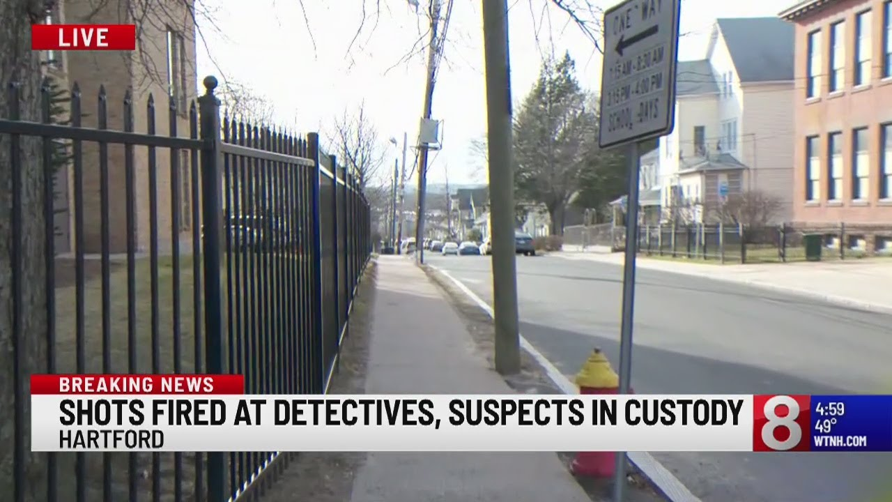 PD: Suspects in custody after shots fired at Hartford detectives, part of  I-84 Westbound closed