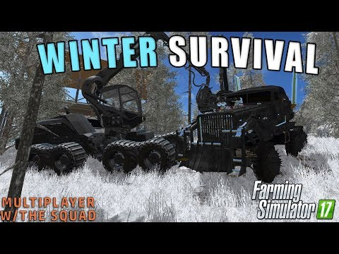 WINTER CAMPING SURVIVAL | Farming Simulator 2017