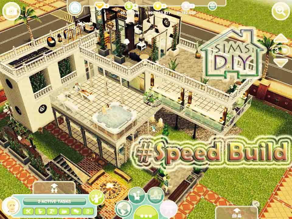 Freeplay Sims 3 SPEED Build Modern House YouTube