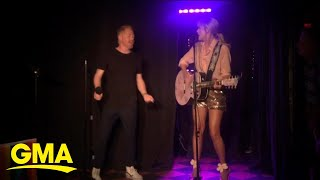 Taylor Swift surprises fans with a performance at NYC's Stonewall Inn l GMA