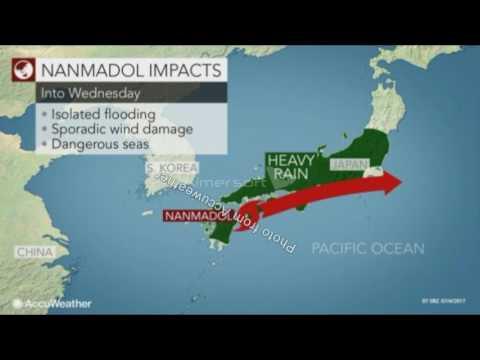 Tropical Storm Nanmadol hits Japan 07W (2017)