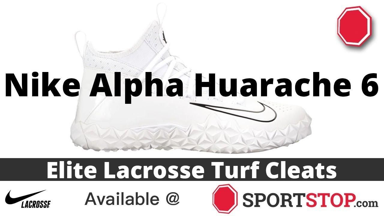 Nike Alpha Huarache 6 Elite Turf White Lacrosse Cleats   SportStop ...