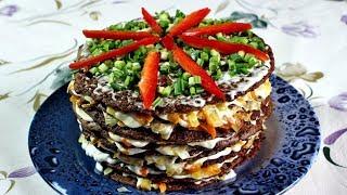 Печеночный торт | Праздничное блюдо из печени