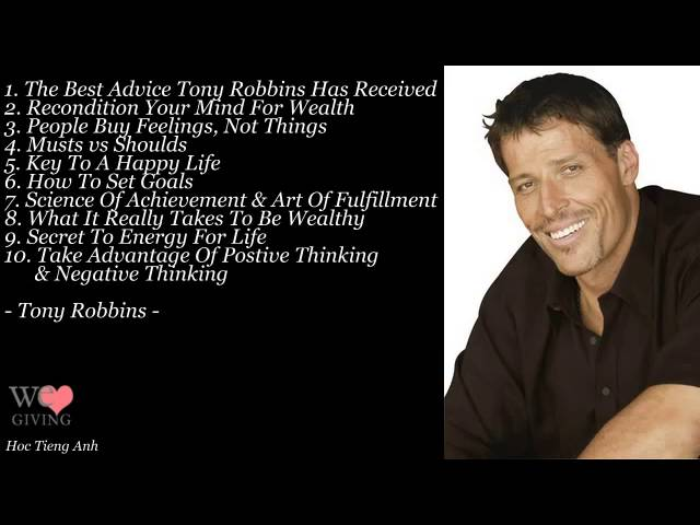 Tony Robbins Greatest Speeches Ever | Top 10 Personal Development Advice