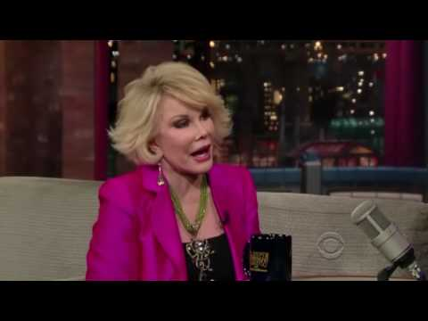 Joan Rivers On David Letterman Late Night Show  Part 1