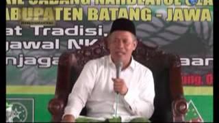 "KH Marzuki Mustamar ; Ceramah "" Provokasi "" KeNU-an dan Kebangsaan di Harlah NU Batang"