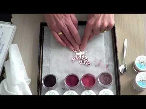 Elizabeth Craft Designs Silk Microfine Glitter Butterfly