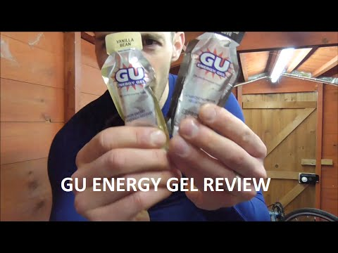 GU energy gel review running and cycling