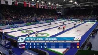 Curling Women RUS vs USA Complete Event | Vancouver 2010