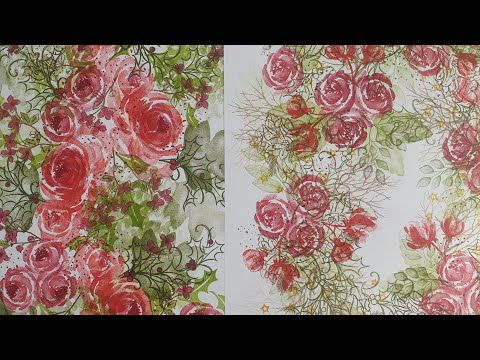 🔴LIVE Christmas STAMPED ONE SHEET WONDER Roses & Hydrangeas