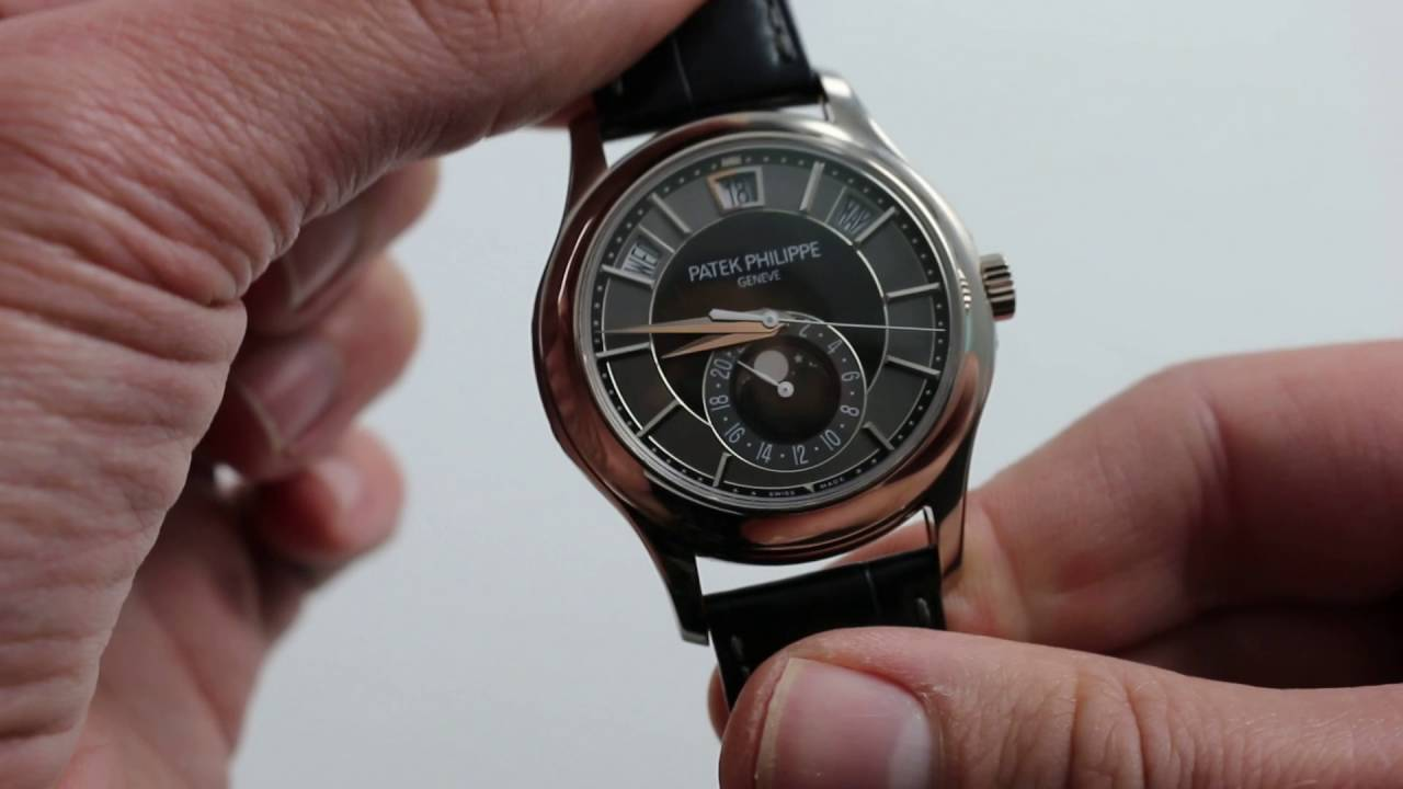 Preowned Patek Philippe 5205g Annual Calendar Luxury Watch Review