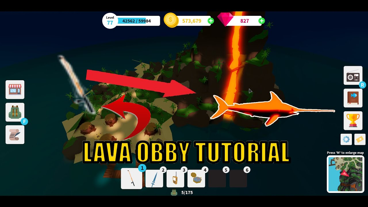 How To Get Lava Rod Lava Obby Tutorial Roblox Fishing