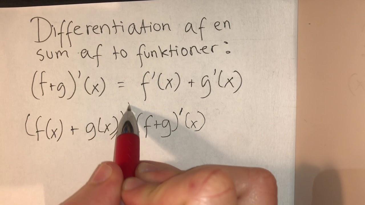 4. Differentialregning (Anna,Frida & Mathilde)