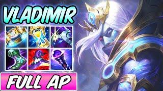 COSMIC DEVOURER VLADIMIR MID NEW SKIN GAMEPLAY FULL AP S+   Best Build & Runes   League of Legends