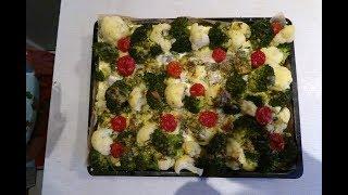 Рыба в духовке с овощами и сыром. Новогоднее блюдо №4.