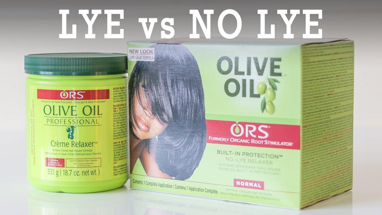 hair relaxers lye vs no lye youtube