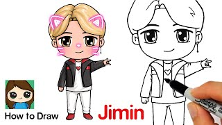 How to Draw BTS Jimin  Tiny Tan