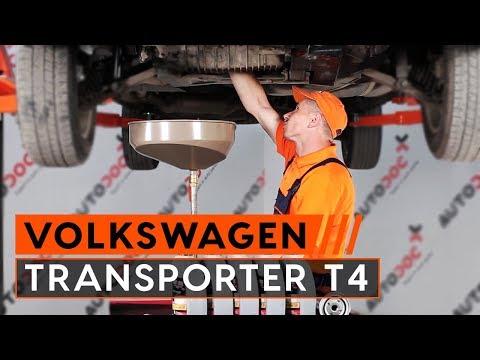 VW TRANSPORTER T4 és olajszűrő csere [ÚTMUTATÓ]