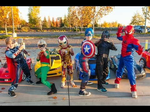 Superheroes Mega Power Wheels Race 4!