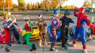 Superheroes Mega Power Wheels Race 4! thumbnail