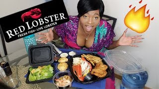 Red Lobster Mukbang | Snow Crab | Lobster Tail | Coconut Shrimp | Seafood Mukbang