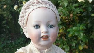 Antique Lifelike Creepy German Bisque Character Baby Doll - Haunted Looking