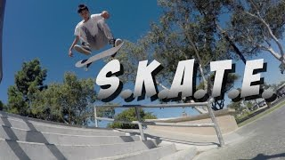 GAME OF S.K.A.T.E. ON STAIRS & A HANDRAIL