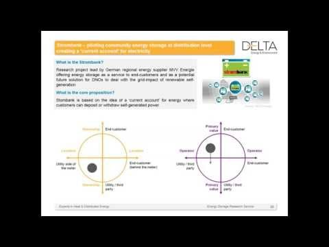 Delta-ee Webinar - How is distributed energy storage being deployed?