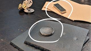 [가죽공예 Tip] 자석을 가죽 안쪽에 넣어서 만들 때…