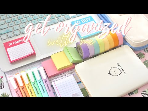 Get organized with me (online classes tips) ✨📂
