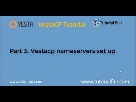 Setup Domain on the Vesta Control Panel with name servers on centos