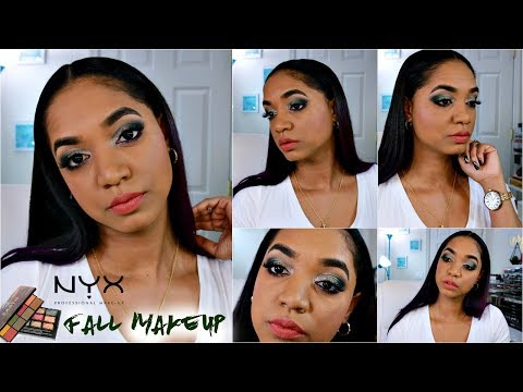 Fall MAKEUP TUTORIAL 🍂 NYX Cosmetics In Your Element Palettes - EARTH and METAL 🍂