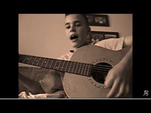 Justin singing I'll Be by Edwin McCain  cover