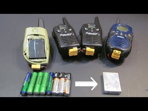 DIY: Walkie Talkie battery hack. Replace AAA's with Li-ion battery