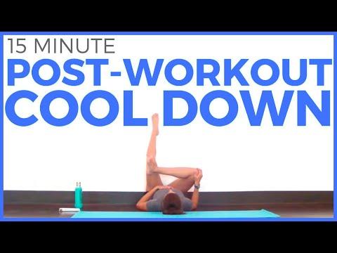 15 minute POST WORKOUT Yoga Cool Down | Sarah Beth Yoga