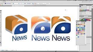 "How to make Logo "" Geo News "" Pakistani News Channel   using Adobe Illustrator"