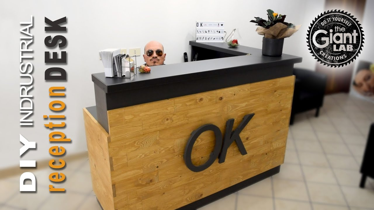 Bancone Bar Da Giardino industrial reception desk // scrivania reception stile industriale
