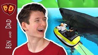 Ben and Dad Go Bananas! | Roblox | SharkBite