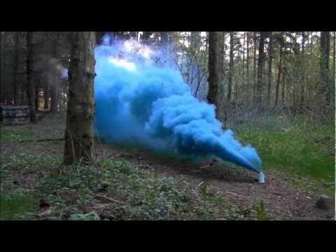 Testing A Blue Smoke Grenade From Tifo It Youtube
