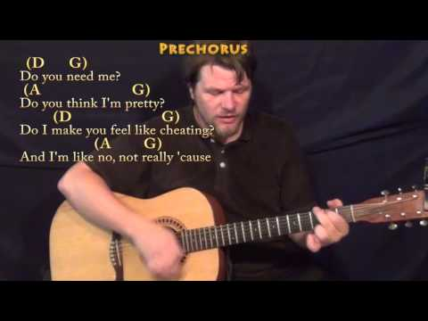 Cheerleader (OMI) Strum Guitar Cover Lesson in D with Chords/Lyrics