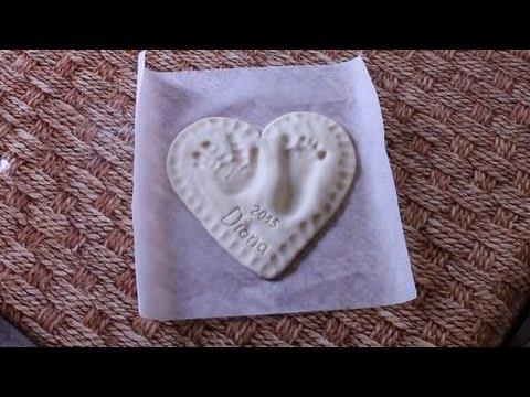 Тесто для отпечатков ручек своими руками