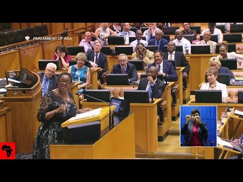 ANGRY Minister of Women Bathabile Dlamini Entertains Parliament
