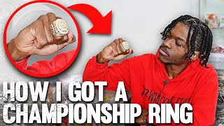 How I Got A Championship Ring