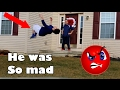 BACKFLIPS AT PEOPLES DOORSTEPS!