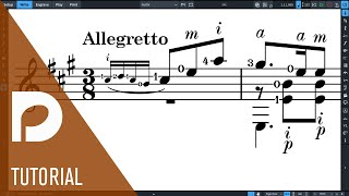 Guitar Fingering and String Indicators   New Features in Dorico 3
