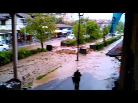 Vrnjačka Banja Pijaca poplava 24.04.2014. 16.57