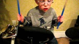 rush 2112 finale by 5 yr old self taught drummer jaxon smith
